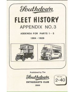 Southdown Fleet History Appendix 3 Additional Info 1-5