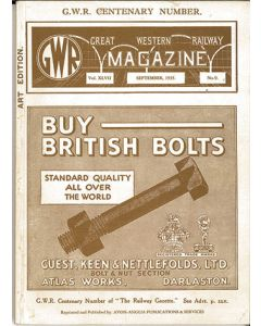 Facsimile Reprint of GWR MAGAZINE (September 1935)
