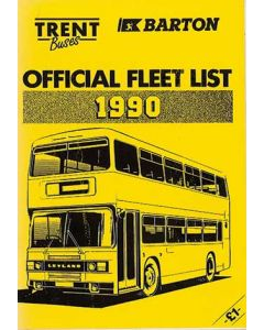 Trent Buses Official Fleet List 1990