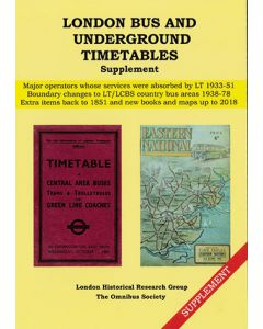 London Bus and Underground Timetables Supplement